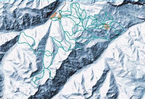 Схема трасс Эльбруса-Безенги
