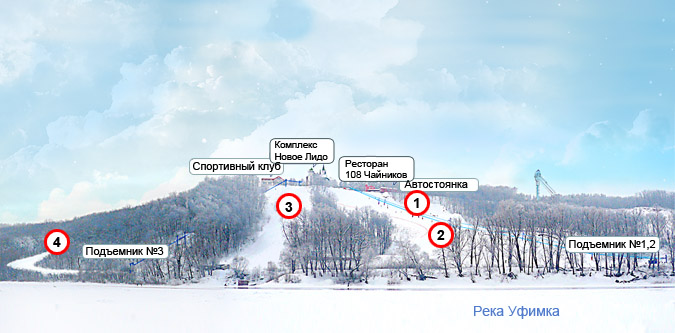 Схема трасс Олимпик Парка